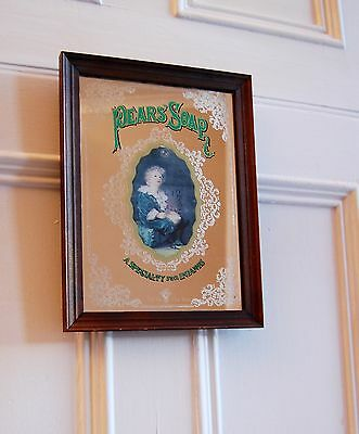 Vintage Collectible Pear'S Soap Advertising Mirror