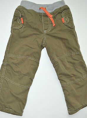 MINI BODEN/ Baby Boden  BOYS Green LINED PANTS SIZE 2-3Y