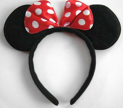 Mickey or Minnie Mouse Ears Headbands Kids Adults Costume Party Accessory New