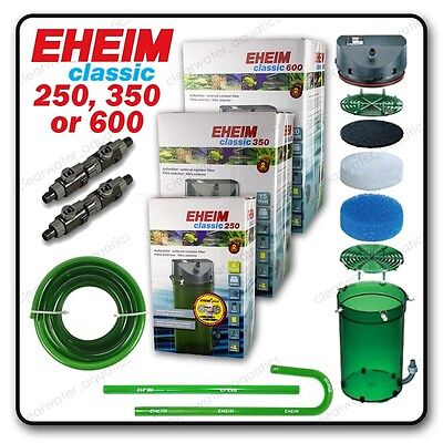 NEW EHEIM Classic 250 350 600 Aquarium EXTERNAL FILTER Fish Tank  2213 2215 2217