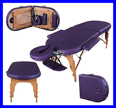 """Purple Orvis Portable Massage Table Couch Beauty Therapy Reiki Bed 3"""" Spa"""
