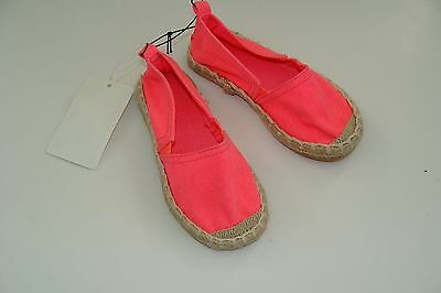 H&M  Flats Girls Girl Size 8 Bright Pink Shoes NEW NWT