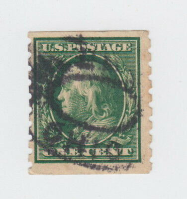 Perf 8½ Coil, #392 Fine, Oval Cancel, $55