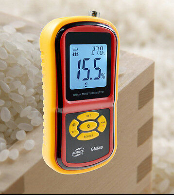 Digital Grain Moisture Meter with Measuring Probe for Corn Wheat Rice Bean Wheat