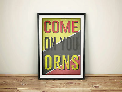 Watford FC A4 Picture Art Poster Retro Style Print WFC