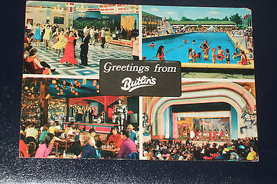 Butlins 2T3 Greetings General View Old Holiday Camp Postcard