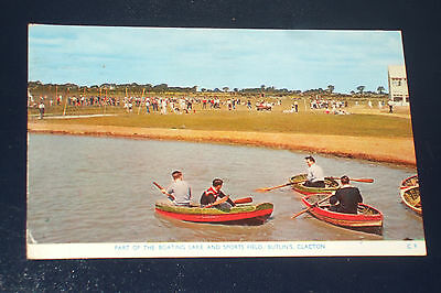 Butlins Clacton C9  The Boating Lake & Sports Field Holiday Camp Postcard