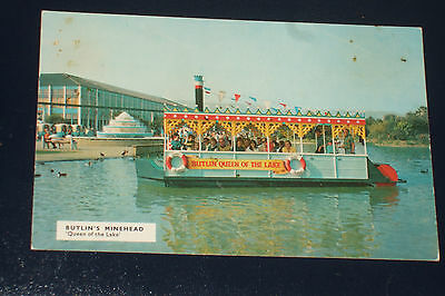 Butlins Minehead M26 Queen Of The Lake Old Holiday Camp Postcard