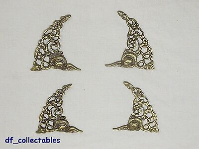 Wonderful set of four spandrels finials for wall clock or grandfather clock