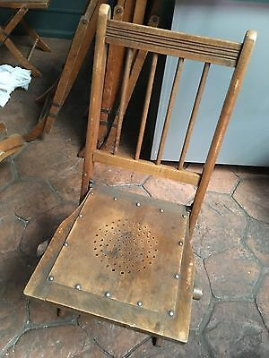 Vintage Wooden Folding Banquet Chairs
