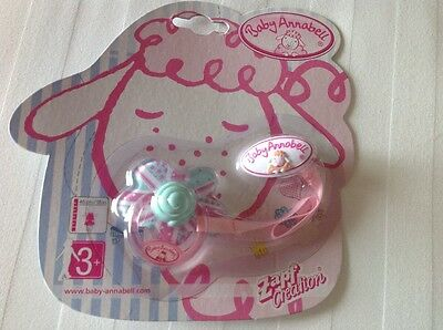 Brand New Baby Annabell Dolls Soother / Dummy Zapf Creations - Rare Design
