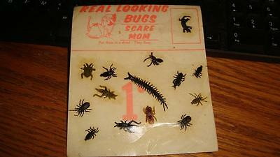 Vintage 1c Vending Machine Header Display Card Bugs to Scare Mom Realistic