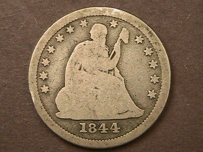 1844-O Liberty Seated Quarter *great Details *very Nice Early Date Silver Coin!