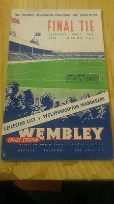 FA CUP FINAL PROGRAMME 1949: Leicester City v Wolves.
