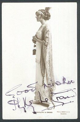 Miss Phyllis Le Grand - Signed