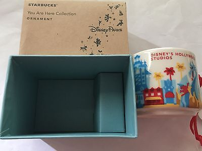 Disney Starbucks You Are Here Hollywood Studios Ceramic Mug Ornament New Box