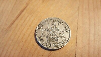 one shilling coin 1948