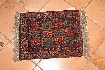 Vintage Tribal Hand Made Rug Beluch Afghanistan: 18 1/2 X 28 inches. New w Tag