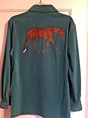 Bay Hunter Quarter Horse Hand Painted On Blouse