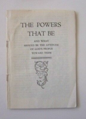 Vintage Foundations of Gathering The Powers That Be Religious Books Pamphlets