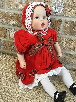"Danbury Mint Gerber Baby Doll 18""  First Christmas "" Porcelain Doll With  Box."