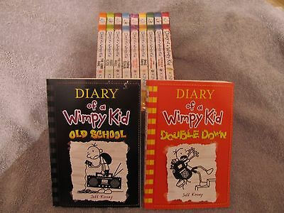 Diary of a Wimpy Kid #'s 1-11 BRAND NEW, And the newest release # 11-DOUBLE DOWN
