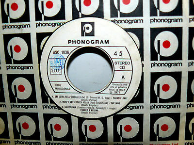 "The Who  Promo On Label Phonogram - Aa.vv. 7"" Italy 1971 Won't Get Fooled Again"