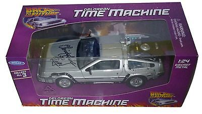 Christopher Lloyd Signed Back To The Future Diecast Delorean With Exact Proof