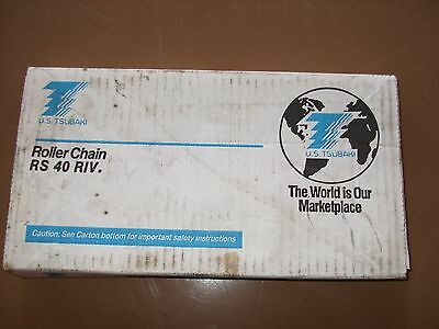 Tsubaki ROLLER CHAIN RS 40 RIV RS40 10' FT NEW IN BOX