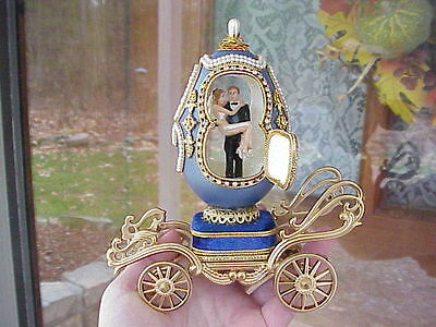 Decorated REAL Carved Goose Egg Carriage Wedding Shower Gift Decoration Music