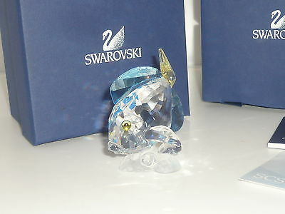 Perfect boxed certificate Swarovski Tang Fish retired crystal 886180 yellow blue