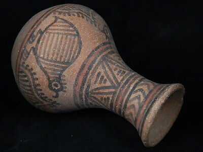 Ancient Teracotta Painted Pot With Birds Indus Valley 2500 BC    #PT15514
