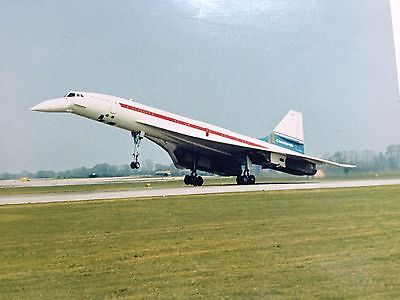 VINTAGE PHOTOGRAPH OF CONCORDE AEROPLANE ORIGINAL PHOTO OF CONCORDE 1960s