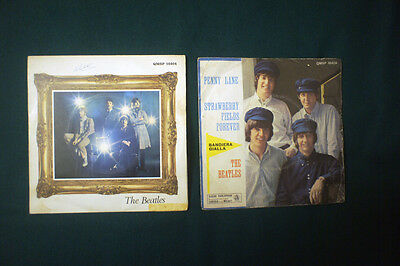"""THE BEATLES     Penny Lane- Straberry Fields Forever  7""""   Ambedue le versioni"""
