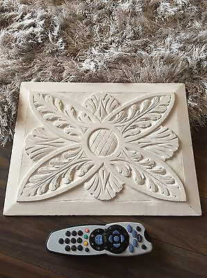 Antique Church Wooden Panel Plaque Reclaimed Decor Shabby Chic Art Hanging Large