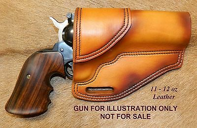 "Gary C's Avenger OWB XXH Revolver Holster RUGER NM Blackhawk 4-5/8"" Leather"