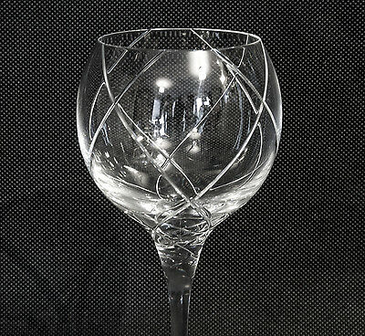 Sevres Cristal cut wine glasses stunning French premier glassware x 2 pieces