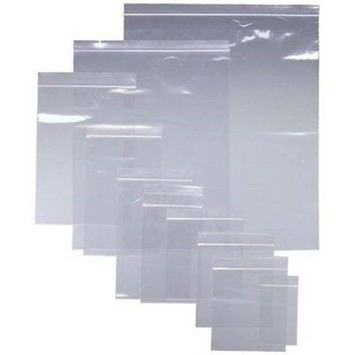 Grip Seal bags Self Resealable Clear Polythene Zip Lock Plastic Small - Large