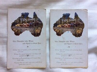 COLLECTABLE ANTIQUE EMBOSSED POSTCARDS FROM AUSTRALIA EARLY 1900s