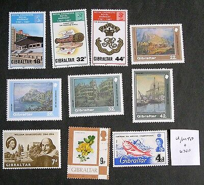 GIBRALTAR  Collection of unmounted mint stamps. couple used