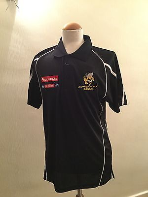 Official Coventry Bees Speedway Merchandise - Black/White Polo Shirt