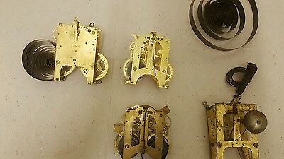 Clock movements.  Gilbert, Ansoina, other parts ** Spares and repair**
