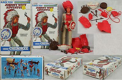 Marx Johnny West Adventure 1975 Chief Cherokee Red Acc White Shield Boxed