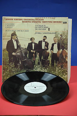 Moscow Virtuosi Orchestra Soloists, duets with double bass, vinyl lp VERY RARE+