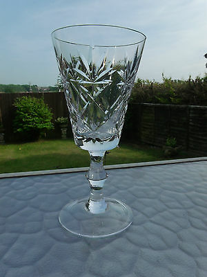 Crystal Wine Glass With Knopped Stem. #1