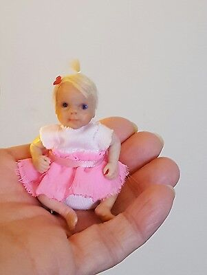 ooak minature baby girl dolls house