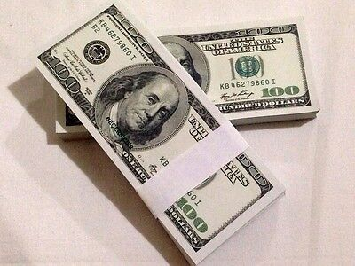 Lot Of 100Pcs Invalid $100 Training Money Banknotes $10.000 For Play Christmas