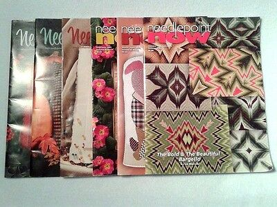 Needlepoint Now Back Issues Complete Set of 6 Year 2009 Needlepoint Patterns