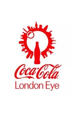 Coca Cola London Eye - Sun Confirmation Code Letter For 2 Free Adult Tickets