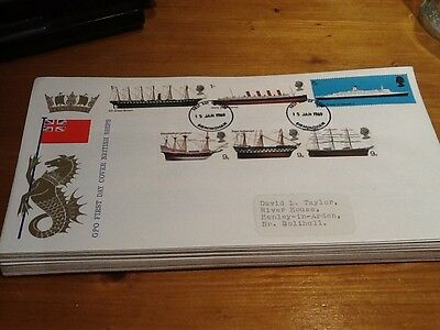 FIRST DAY COVER GPO BRITISH SHIPS DATED 15th JAN 1969